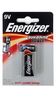 Resim Energizer 9V Alkaline Power Tekli Kart 9 Volt Pil