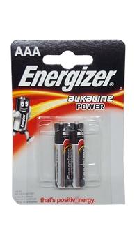 Resim Energizer AAA Alkaline Power 2'li Kart İnce Kalem Pil