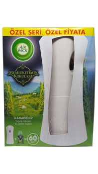 Resim Airwick Karadeniz Yayla Havası & Sedir Ağacı Freshmatic Kit Sprey Hediyeli