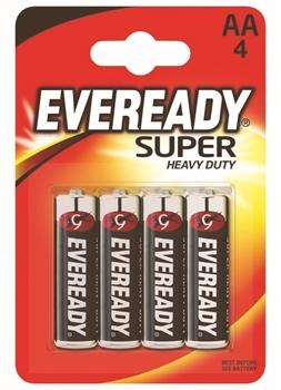 Resim Eveready AA Super 4'lü Kart Kalem Pil