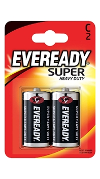 Resim Eveready C Super 2'li Kart Orta Boy Pil
