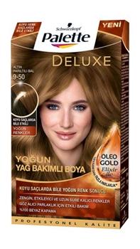 Resim Palette Deluxe Altın Parıltılı Bal Oleo Gold 9-50 Tüp Krem Saç Boyası 50 ml
