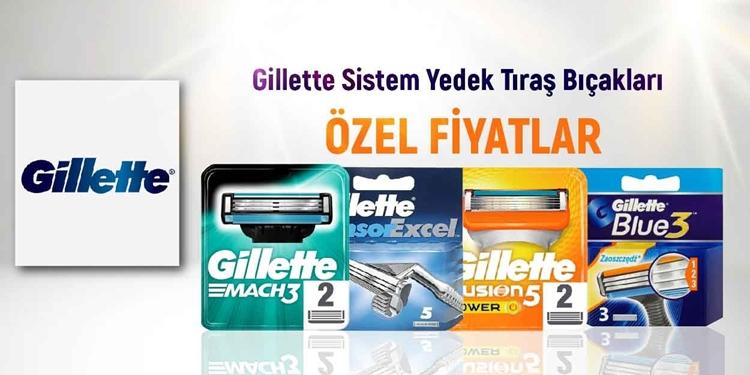 Gillette Sistem Yedek Tıraş Bıçakları kampanya resmi
