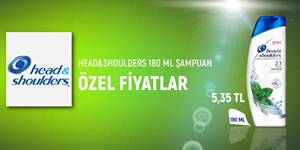 HEAD&SHOULDERS 180 ML KAMPANYA kampanya resmi