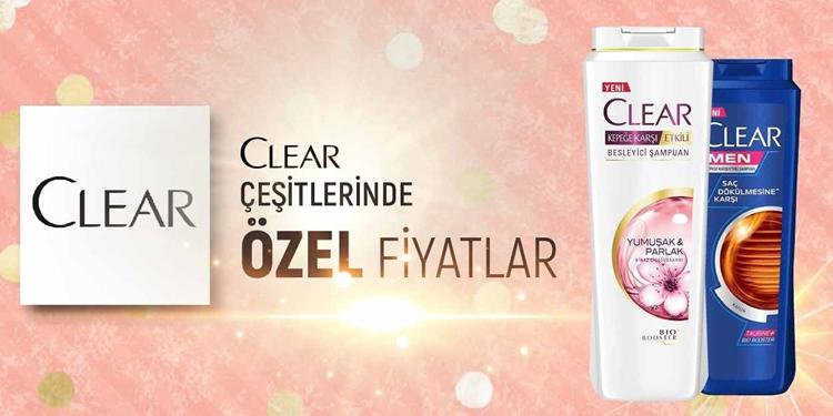 CLEAR ÇEŞİTLERİNDE  ÖZEL FİYATLAR kampanya resmi