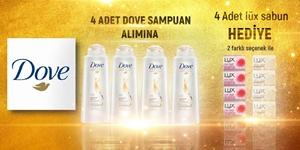 4 ADET DOVE ALIMINA 4 ADET LUX SABUN HEDİYE KAMPANYA kampanya resmi