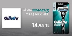 Gillette Mach3 1up Tıraş Makinesi Fırsatı kampanya resmi