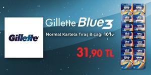Gillette Blue3 Kartela Tıraş Bıçağı 10'lu Fırsatı kampanya resmi