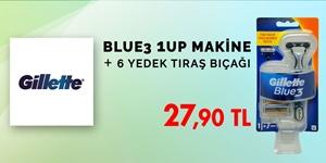 Gillette Blue3 1up Tıraş Makinesi 6 Yedek Bıçak Hediyeli kampanya resmi