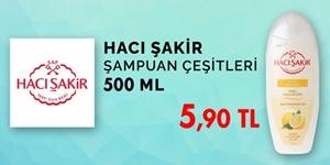 Hacı Şakir Şampuanlarda Özel Fiyat kampanya resmi
