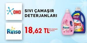 Sıvı Çamaşır Deterjanlarında Özel Fiyatlar kampanya resmi
