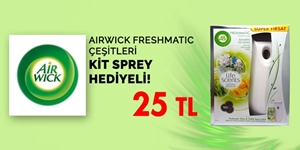 Airwick Freshmatic Kit Sprey Hediyeli kampanya resmi