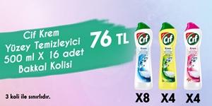 Cif  500 ml Krem Yüzey Temizleyicileri Bakkal Kolisi Bayram Kampanyası kampanya resmi