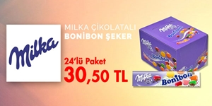 Milka Çikolatalı Bonibon Şeker kampanya resmi