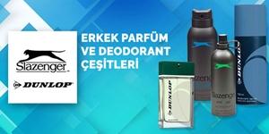 Dunlop ve Slazenger Erkek Parfüm ve Deodorant Çeşitleri kampanya resmi