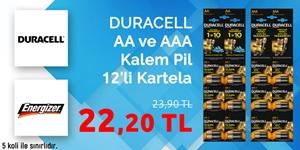 Duracel ve Energizer Pillerde En İyi Fiyatlar kampanya resmi