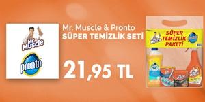 Mr. Muscle & Pronto Süper Temizlik Seti kampanya resmi