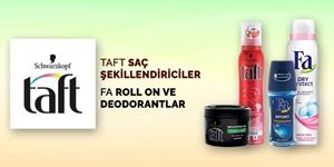 Taft Saç Şekillendirici Ürünler ve Fa Deodorantlar kampanya resmi
