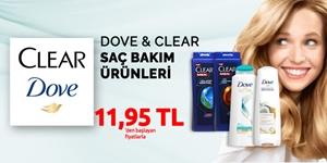 Clear ve Dove Saç Bakım Ürünleri kampanya resmi