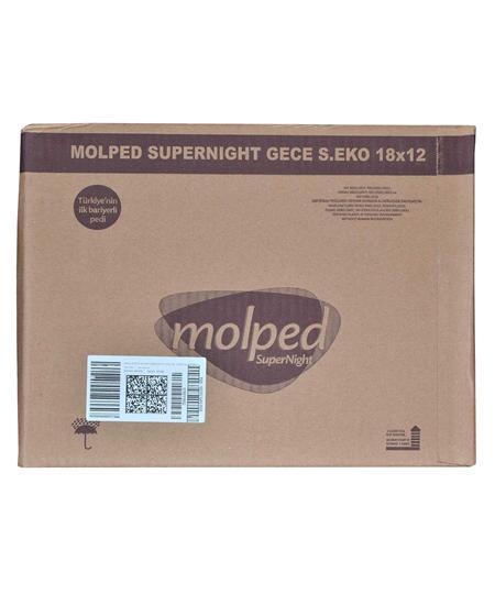 Picture of Molped Hijyenik Ped 18'li Gece Supernight