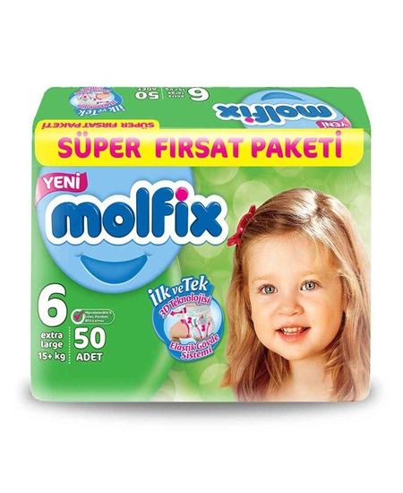Picture of Molfix Bebek Bezi 50'li 6 Numara Süper Fırsat Paketi
