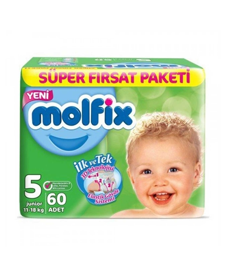Picture of  Molfix Baby Diapers Size 5 60 Pieces Super Offer