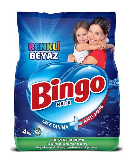 Picture of  Bingo Matic Laundry Powder Detergent 4 Kg Color & White