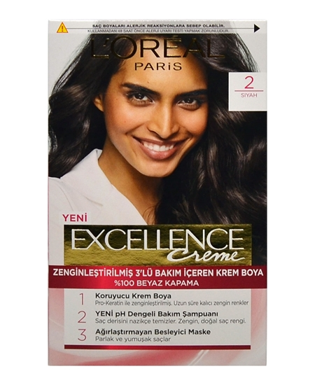 Picture of Loreal Excellence Set Saç Boyası Siyah No: 2