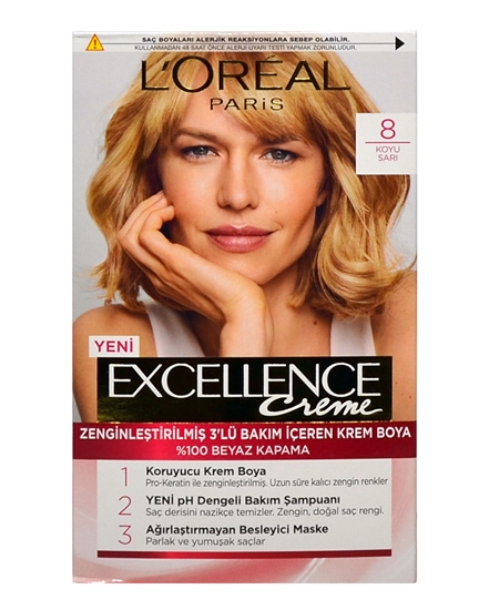 Picture of Loreal Excellence Set Saç Boyası Koyu Sarı No: 8