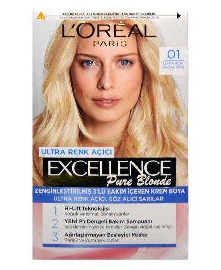 Picture of Loreal Excellence Set Saç Boyası Ultra Açık Doğal Sarı No: 01