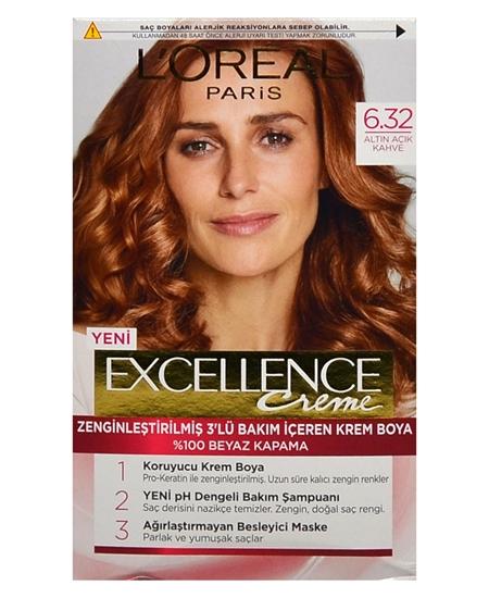 Picture of Loreal Excellence Set Saç Boyası Altın Açık Kahve No: 6.32