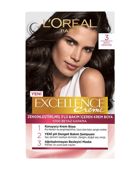 Picture of Loreal Excellence Set Saç Boyası Koyu Kestane No: 3