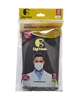Picture of 3 Layer Wire Digi Mask Mask 10 Pack Black Gold