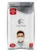Picture of 3 Layer Wired Digi Mask Mask 10 Pack White Silver
