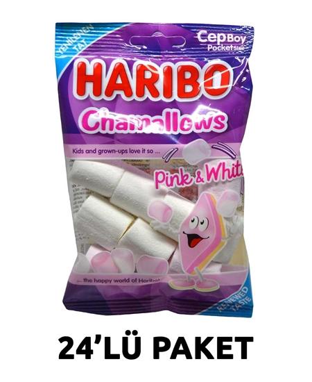 Picture of Haribo Yumuşak Şekerleme 25 g X 24'lü Paket Chamallows Pembe-Beyaz