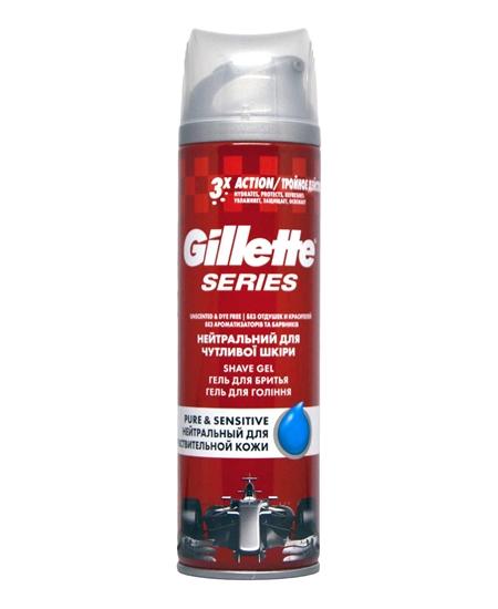 Picture of Gillette Series Pure & Sensitive Shaving Gel 200 ml