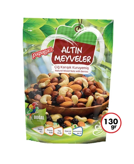 Picture of Papağan Golden Fruits Raw Mixed Nuts 130 g