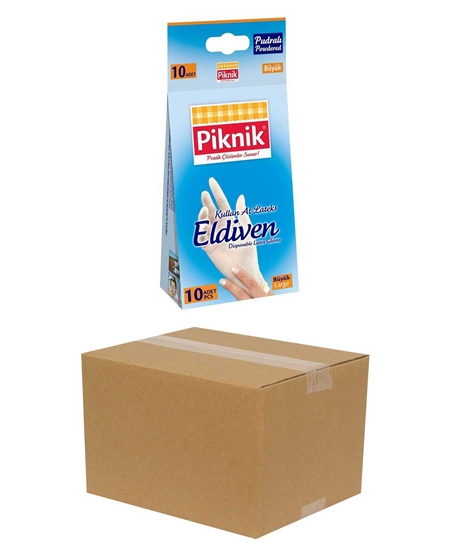 Picture of Piknik Latex Glove 10x24 Packs Large Powdered
