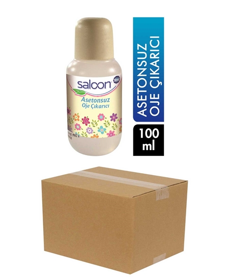 Picture of Saloon Acetone Free Nail Polish Remover 100 ml X 24 Pieces Box