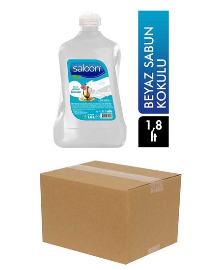 Picture of Saloon Sıvı Sabun 1,8 lt X 8'li Koli Beyaz Sabun Kokulu