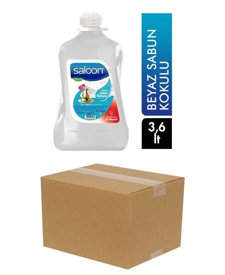 Picture of Saloon Sıvı Sabun 3,6 lt X 4'lü Koli Beyaz Sabun Kokulu