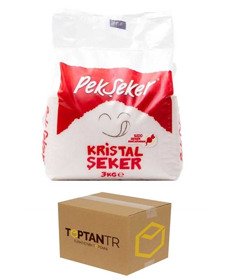 Picture of Pekşeker Crystal Granulated Sugar 3 kg X 8 Pieces Box