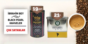 Black Pearl & İbrahim Bey Kahve Çeşitleri kampanya resmi