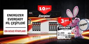 Energizer ve Eveready Pil Çeşitleri kampanya resmi