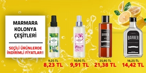 Marmara Kolonya Çeşitleri kampanya resmi