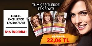 Loreal Saç Boyaları %15 İndirim! kampanya resmi