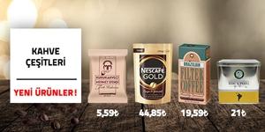 Kahve Çeşitlerinde Koli Alımına Özel Fiyatları Kaçırma! kampanya resmi