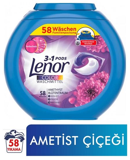 Picture of Lenor  Hepsi Bir Arada Kapsül Çamaşır Deterjanı 58 Yıkama Ametist Çiçeği