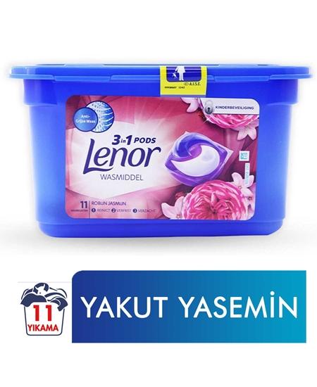 Picture of Lenor  3'ü 1 Arada Kapsül Çamaşır Deterjanı 11 Yıkama Yakut Yasemin