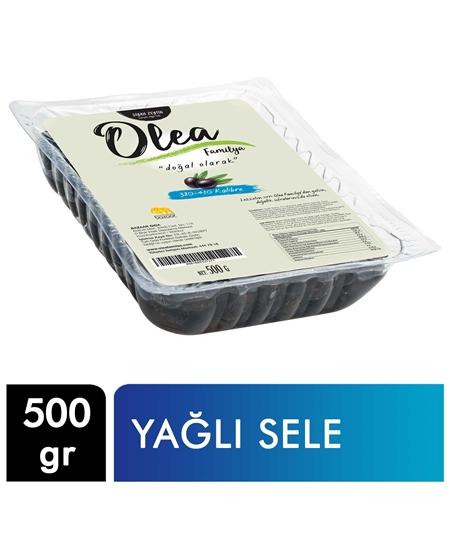 Picture of Olea Familya Siyah Zeytin Vakumlu 500 g X 24'lü Koli Yağlı Sele 380-410 Kalibre